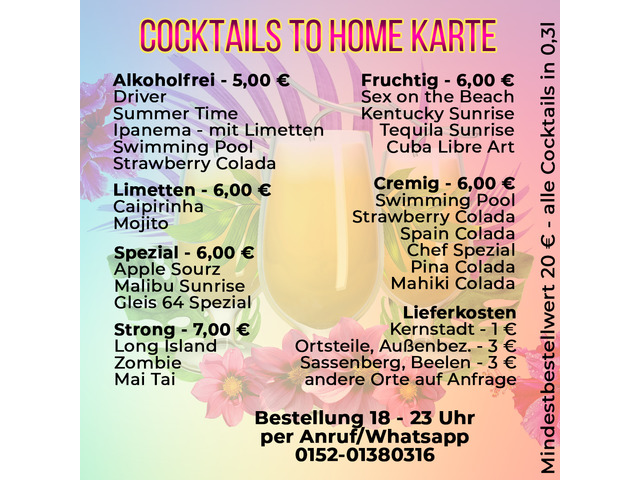 Cocktails to Home Service